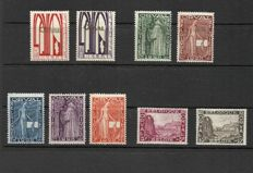 "Belgium 1914/1930 - Selection of series, including Red Cross, Montenez and ""First Orval"" - OBP 126/128, 211/219 and 258/266"