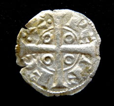 Spain - County of Barcelona - Pedro I, (1196-1213) - Vellon Obol minted in Barcelona - Scarce