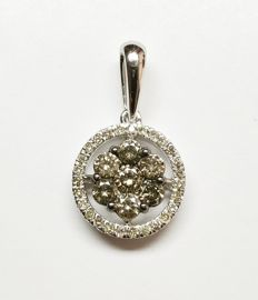 A 14k gold New Ladies Pendant with Brilliant cut Diamonds total 0.55 ct   -No Reserve Price