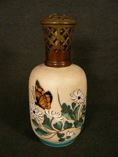 Limoges, Camille Tharaud - Beautiful enamel decorated Lampe Berger