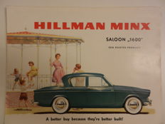 HILLMAN Brochures 1960s and 1970s. 20 items