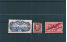 France 1936/1945 - Air Mail 'Avion survolant Paris/ Burelé', Military Air Mail Richelieu and United States - Yvert PA no. 15, PAM no. 3, 18
