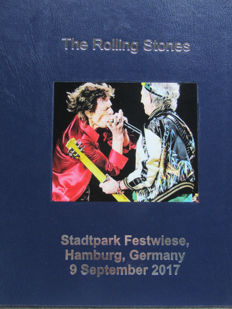 The Rolling Stones Live Stadtpark Festwiese, Hamburg,Germany- 9/09/2017- 3 colored L.P.s in blue leather cover