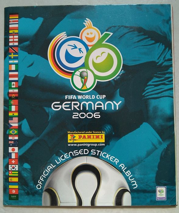 Panini - WC 2006 Germany - Rare version with goal on backside (near München) - Complete album.