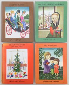 Youth; Lot with 4 books illustrated by Josette and Suzanne Boland - 1961 / 1966