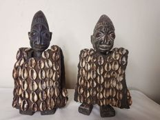 Couple of Ere Ibedji twin figurines - YORUBA - Nigeria