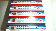 ClassiX H0 - 6008 - Passenger wagon - M6 set of 5 carriages - NMBS