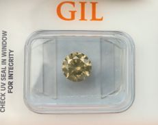 1.30 ct - Natural Diamond - N. Fancy Greenish Yellow, SI2 -  *NO RESERVE*