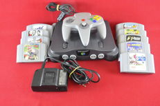 Nintendo 64 Console with 9 games eg Mario Kart 64, Lego Racers, V-Rally and more