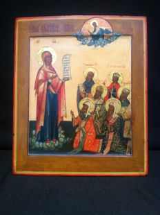 Russian icon of the Bogolubskaya Moskovskaya mother of god - circa 1900