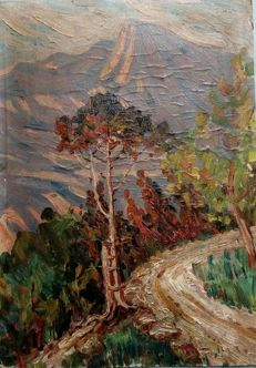 Attributed to A.Plamentiskij - Crimea. Road in mountains