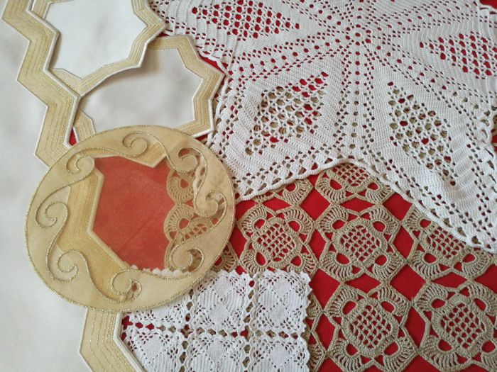 Lot of 7 doilies - Italy