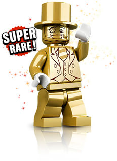 Collectible Mini figures - Mini figures Series 10 - Mr. Gold 71001