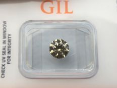 1.06 ct - Natural Diamond - N. Fancy INTENSE Yellowish Green , SI-1 -  *NO RESERVE*