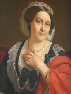 Unknown master (19th century) - Adellijke dame