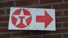 Texaco road sign - dubbel side - 40 x 20 - used in the 80's