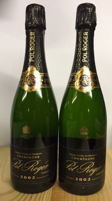 2002 Pol Roger Cuvee Sir Winston Churchill, Champagne - 2 bottles (75cl)