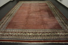 Magnificent hand-knotted oriental palace carpet Sarough Mir 310 x 410 cm made in India fantastic highland wool