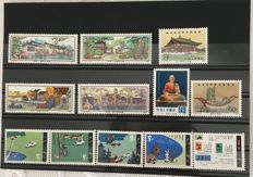 China 1980/1986 - Collection of 11 Complete series, including T56, J55, T51, J60, J68, J62, T52, T80, J84, T85 and T110, plus 131 other stamps