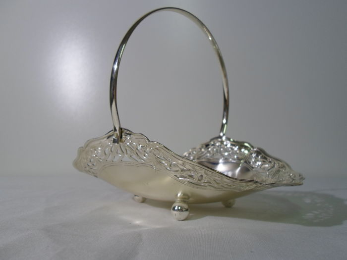 Silver plated Reichhart candy basket, West Germany, 20th century