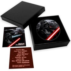 Niue - $2 - Star Wars - Darth Vader black ruthenium + colour Edition - 1 oz 999 silver coin - Edition of only * 200 * pieces