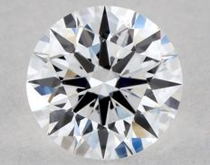 Round diamond certified GIA 0.30 ct colour D, purity VS2