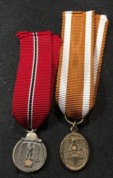 3. Reich in miniature: Rampart badge and east medal