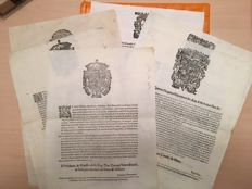 Collection of 8 gride milanesi - 17th century