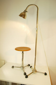 Christian Dell for Maquet - doctor's lamp mod. 8224/44 and rotating stool