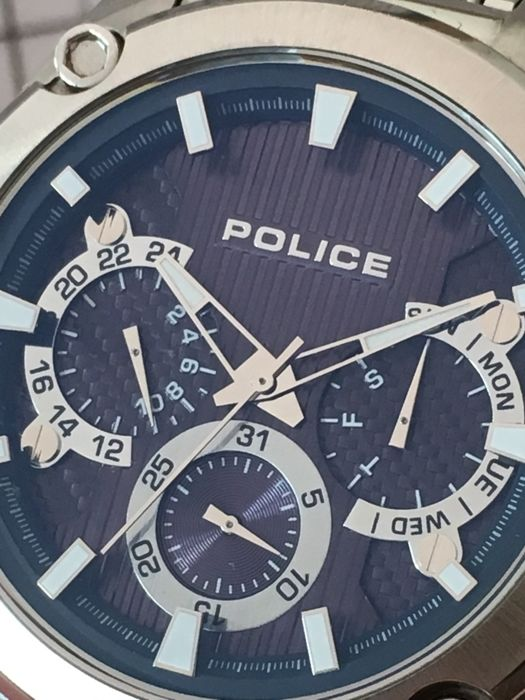 "Police Navy ""Calendar"" – men's wristwatch – 2017 -- used ..."
