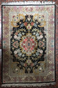 Extra fine hand-knotted Persian rug - Tabriz - 148 x 100 cm - Iran
