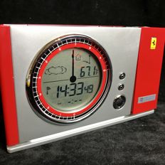 Original Ferrari Maranello projection clock, alarm, weather station.