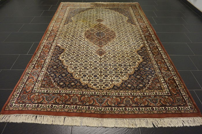Oriental Indo Bidjar Herati, 200 x 290 cm, made in India, end of the last century