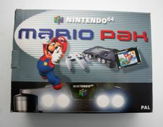 "Boxed Nintendo 64 Console Set ""Mario Pak Edition"" Fully Complete and  including Super Mario"