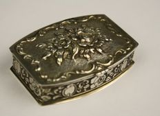 German silver box, Elbo, W-Germany, 20th century