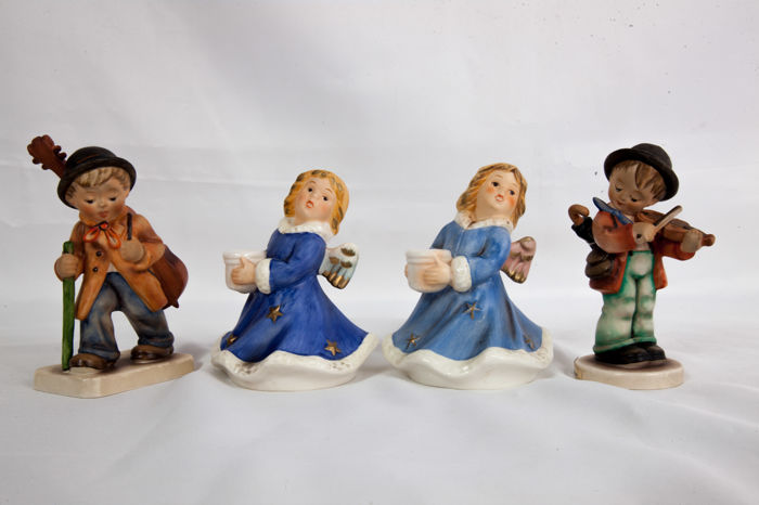 Goebel - 4 figurines Hummel & 2 Christmas angels of Goebel