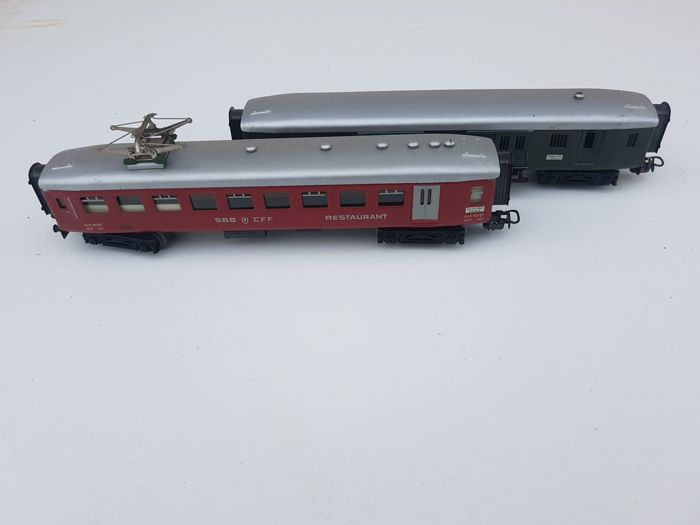 Märklin H0 - 4017/4035 - Baggage car and dining carriage of the SBB