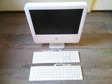 "Lot of 3 Apple items - Apple iMac G5/2.0 17"" (ALS) & 2x Apple Aluminium USB keyboard"