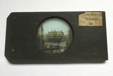 Magic lantern plate Dogen Palast Venedig in wooden case
