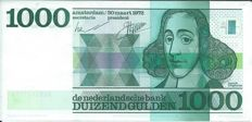 Netherlands - 1,000 guilders 1972 Spinoza - PL128.b