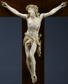 Christ in ivory - Dieppe France - early 19th century
