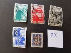 The Netherlands 1923/1932 - Clearance issue and ANVV - NVPH 133 + 244/247
