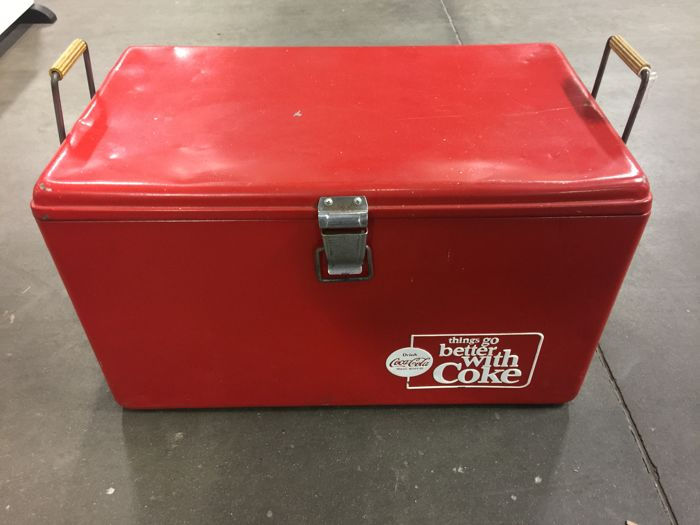 Large Coca Cola cooler circa 1930
