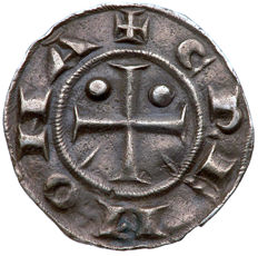 Cremona, communal period (1155-1330) – Grosso with the bisanti of 6 Denari Imperiali, in the name of Emperor Federico – Silver