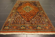 Unique old Persian carpet Bijar runner best wool natural colours made in Iran 110 x 175 cm