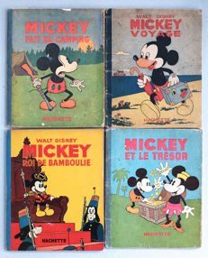 Mickey Mouse - 4 books - B - Original Edition - (1933/1948)