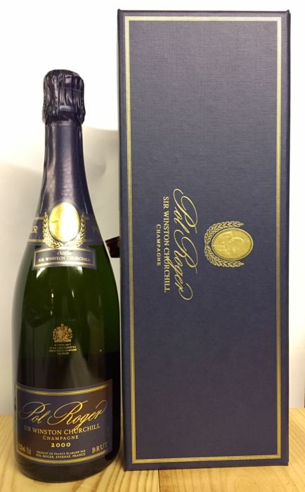 2000 Pol Roger Cuvee Sir Winston Churchill, Champagne - 1 bottle (75cl) in box