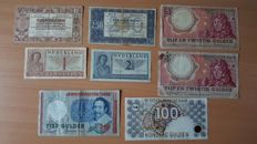 The Netherlands - 8 different banknotes