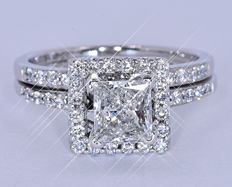 1.47 Ct Diamond princess designer ring NO reserve price!