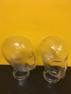 Glass heads 2 pieces